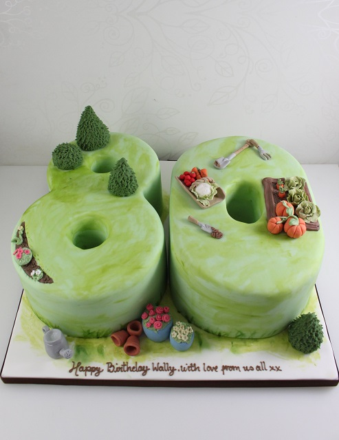 Birthday the fairy cakery cake decoration and courses for Gardening 80th birthday cake
