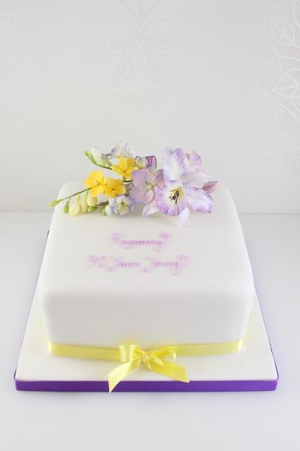Birthday Cake With Freesia S