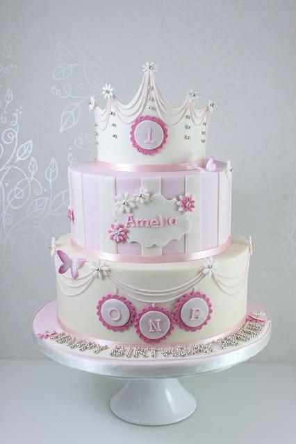 Click To Enlarge Image Girls 1st Birthday Princess Cake