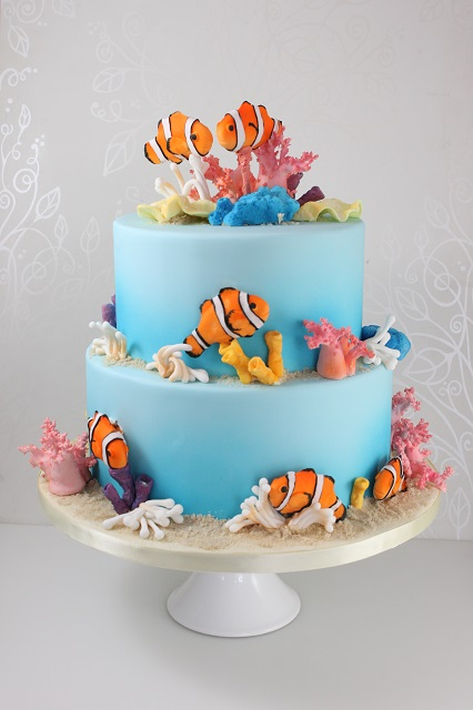 Click To Enlarge Image Coral Reef 2 Tier Cake