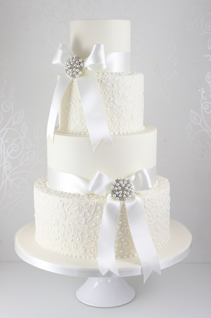 Lace Decoration For Wedding Cake