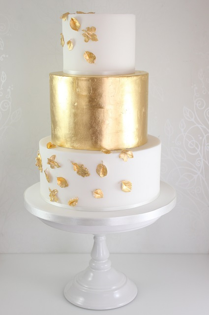 Gold Leaf And Marble Cake Cake Pinterest Cake Marble Cake