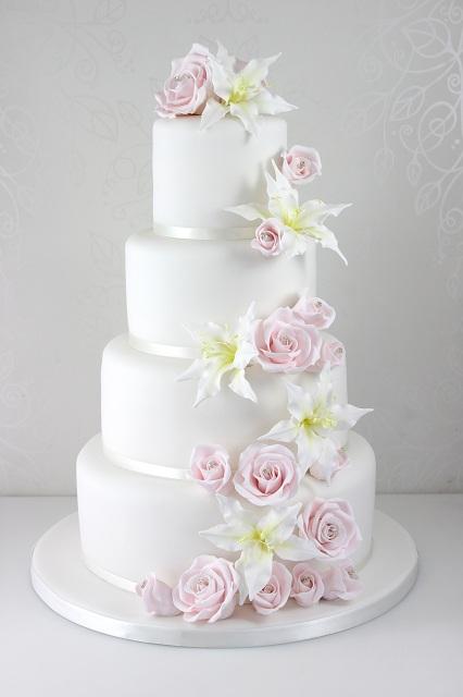 Rose Cake Decorations Wedding Cakes : Wedding Cakes - The Fairy Cakery - Cake Decoration and ...