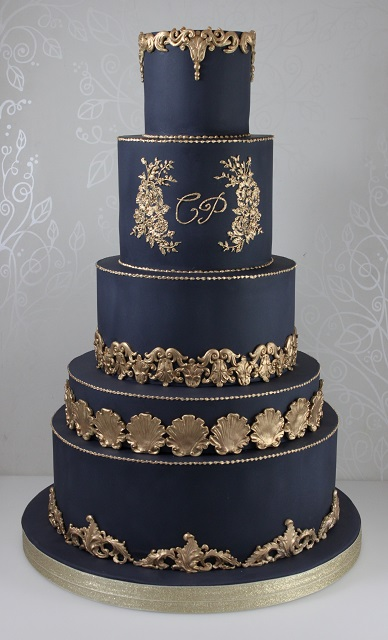 Midnight Blue Wedding Cake