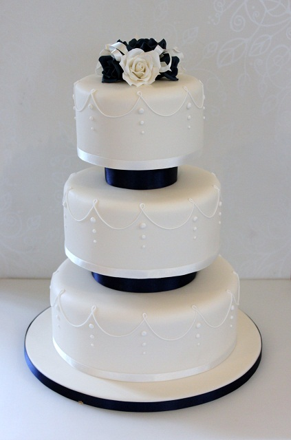 Click To Enlarge Image Navy Blue Rose Cake